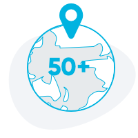50 Cities Globally & Counting
